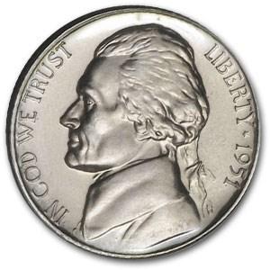 1951 Jefferson Nickel Proof