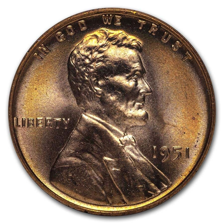 1951 Lincoln Cent BU (Red)