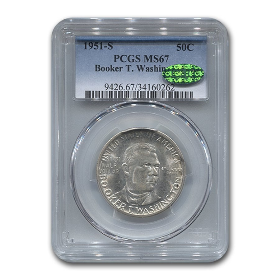 1951-S Booker T. Washington Half Dollar MS-67 PCGS CAC