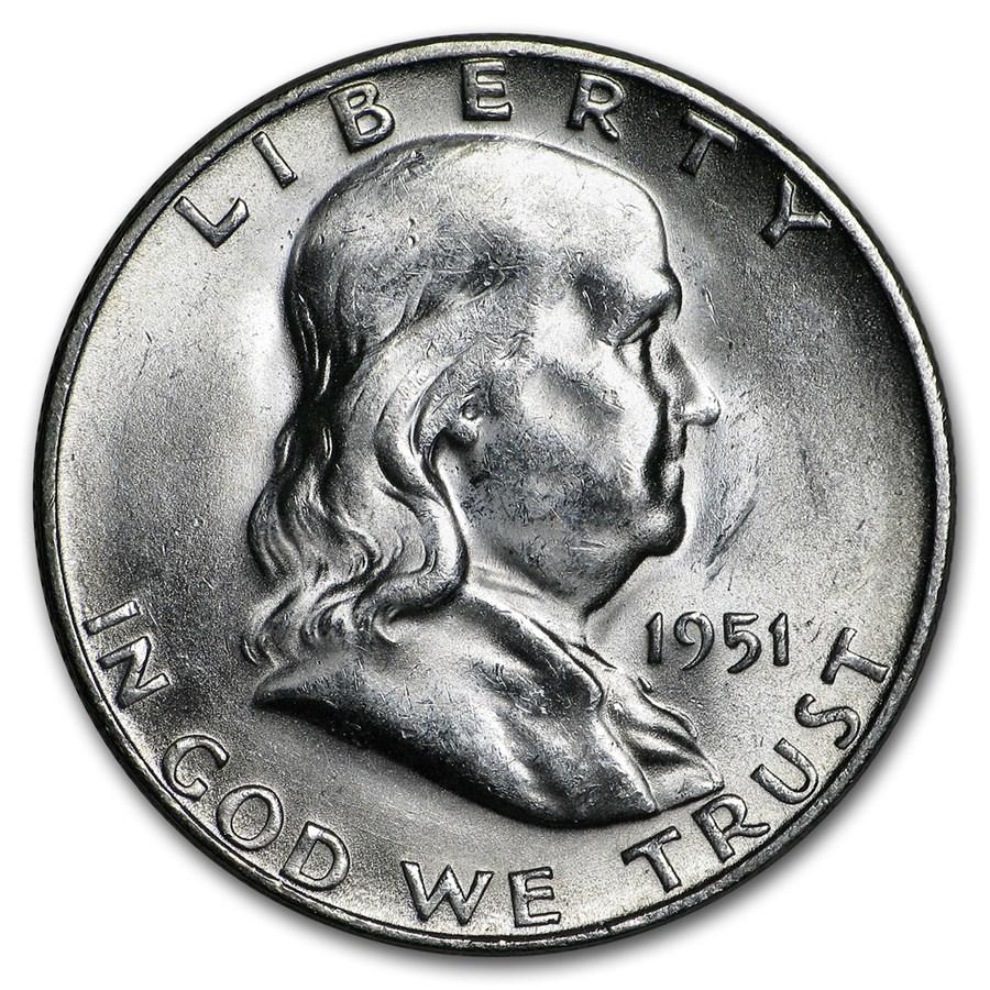 1951-S Franklin Half Dollar AU