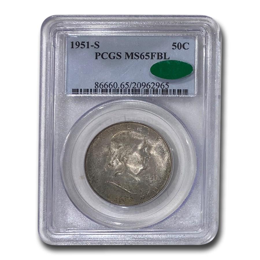 1951-S Franklin Half Dollar MS-65 PCGS CAC (FBL)