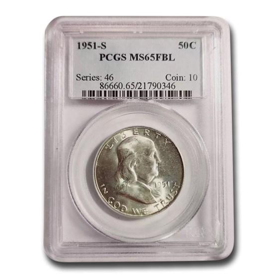 1951-S Franklin Half Dollar MS-65 PCGS (FBL)