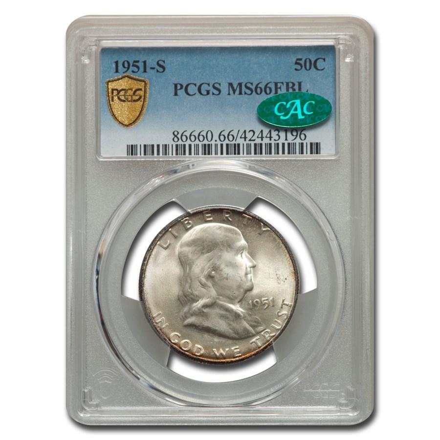 1951-S Franklin Half Dollar MS-66 PCGS CAC (FBL)