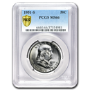 1951-S Franklin Half Dollar MS-66 PCGS