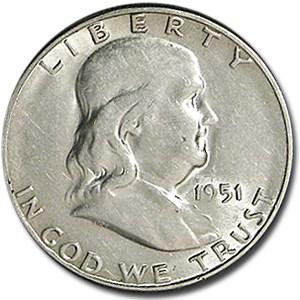 1951-S Franklin Half Dollar XF