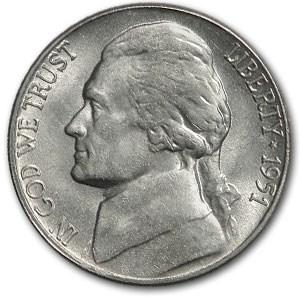 1951-S Jefferson Nickel BU