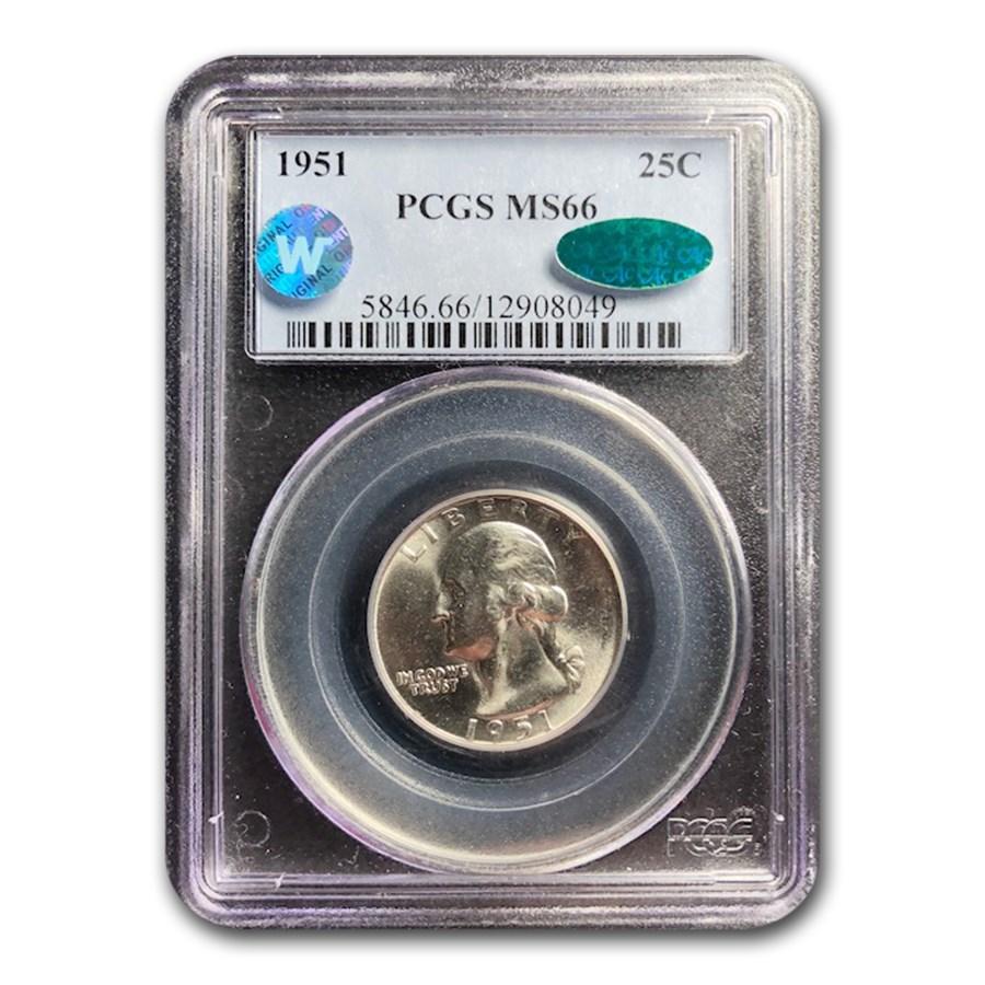 1951 Washington Quarter MS-66 PCGS CAC