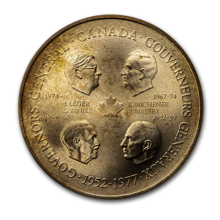 1952-1977 Canada Governors General Medal BU (45 mm)
