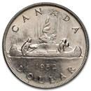 1952 Canada Silver Dollar George VI AU