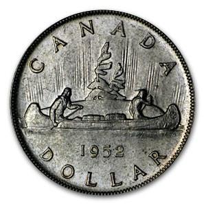 1952 Canada Silver Dollar George VI XF