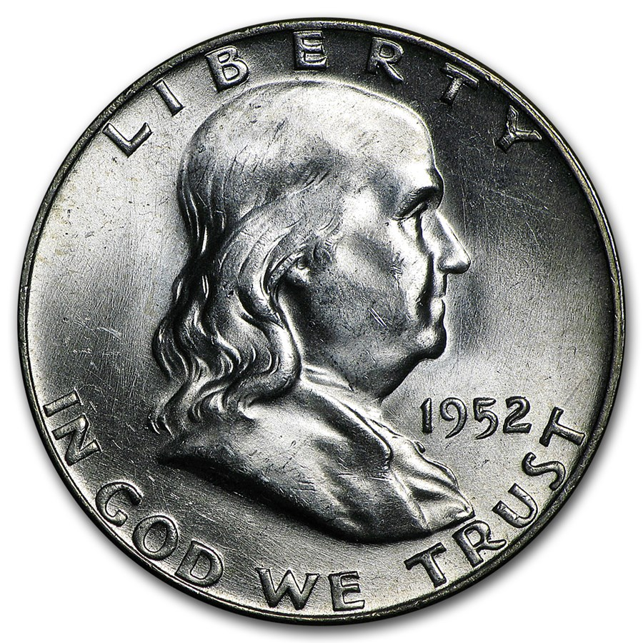 1952-D Franklin Half Dollar BU