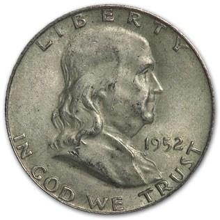 1952-D Franklin Half Dollar Fine/XF