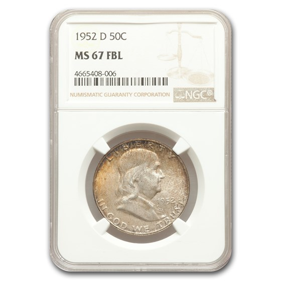 1952-D Franklin Half Dollar MS-67 NGC (FBL)
