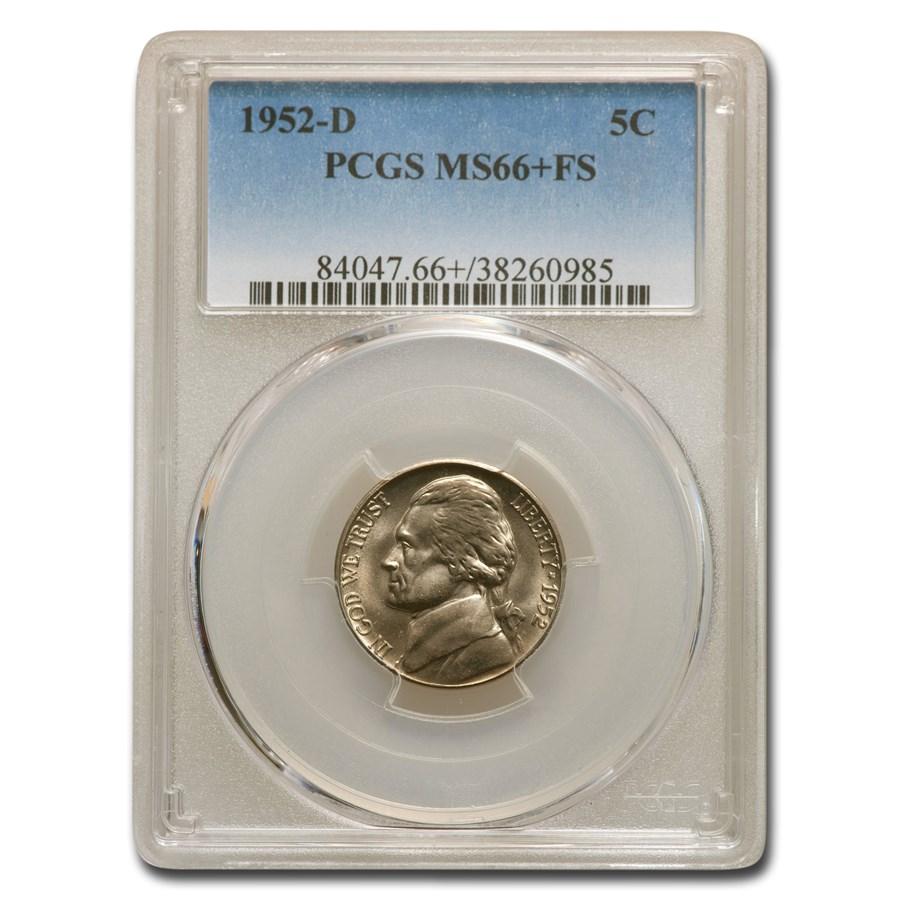 1952-D Jefferson Nickel MS-66+ PCGS (FS)