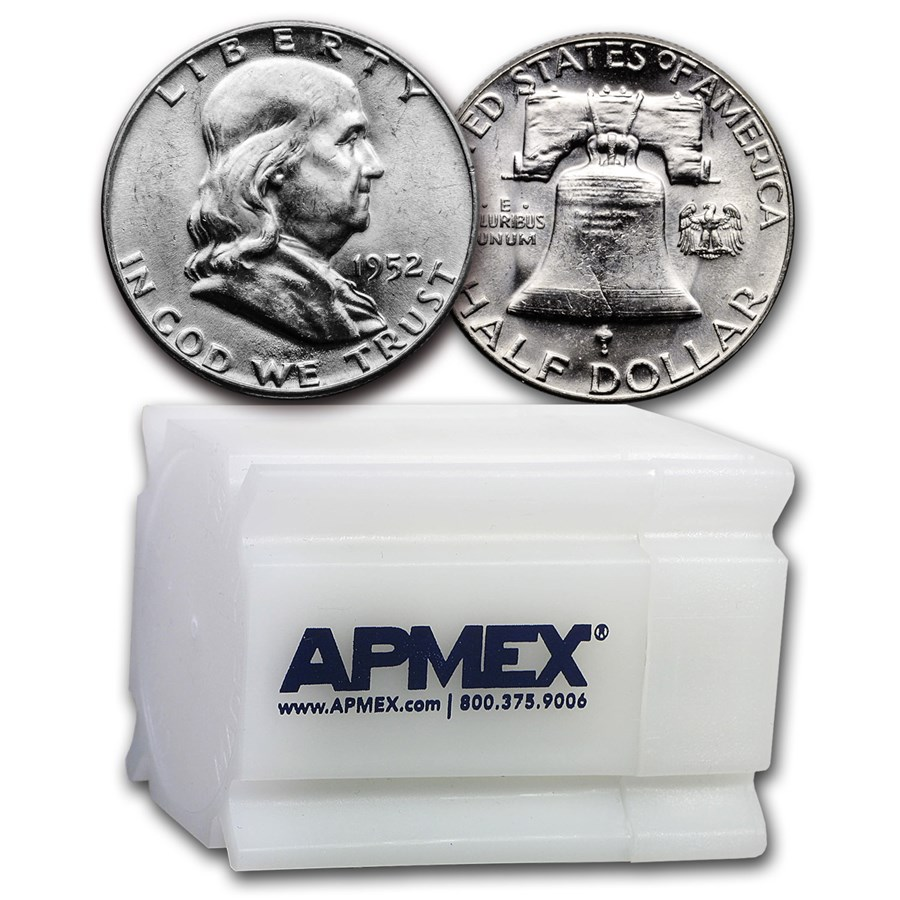 1952 Franklin Half Dollar 20-Coin Roll BU