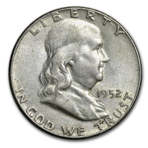 1952 Franklin Half Dollar AU