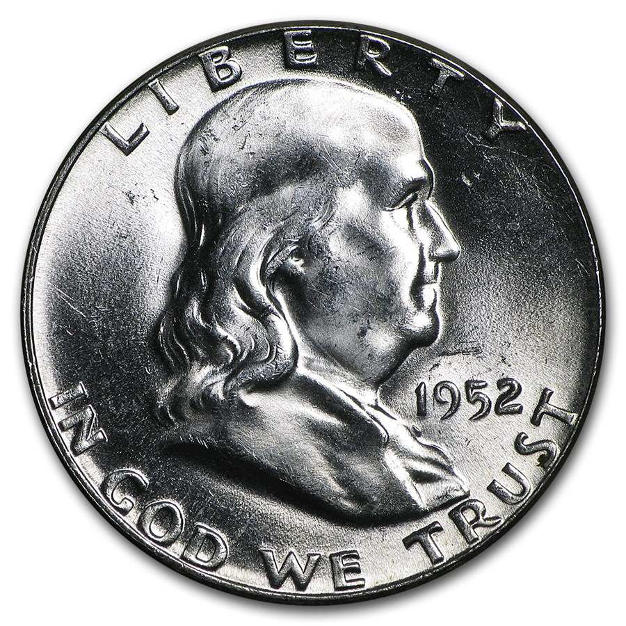 1952 Franklin Half Dollar BU