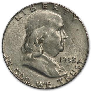 1952 Franklin Half Dollar Fine/XF