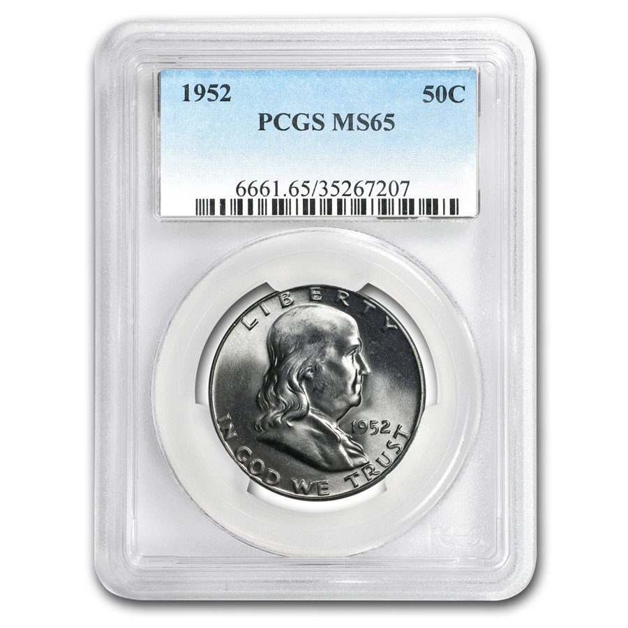 1952 Franklin Half Dollar MS-65 PCGS