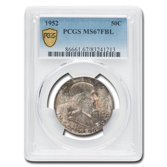 1952 Franklin Half Dollar MS-67 PCGS (FBL)