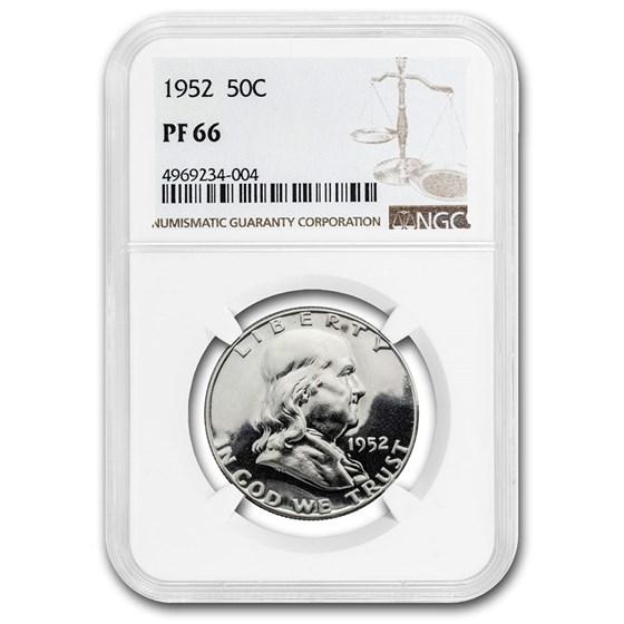 1952 Franklin Half Dollar PF-66 NGC
