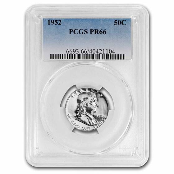 1952 Franklin Half Dollar PR-66 PCGS