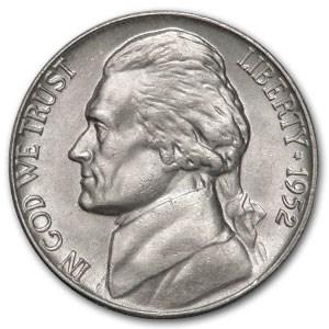 1952 Jefferson Nickel BU