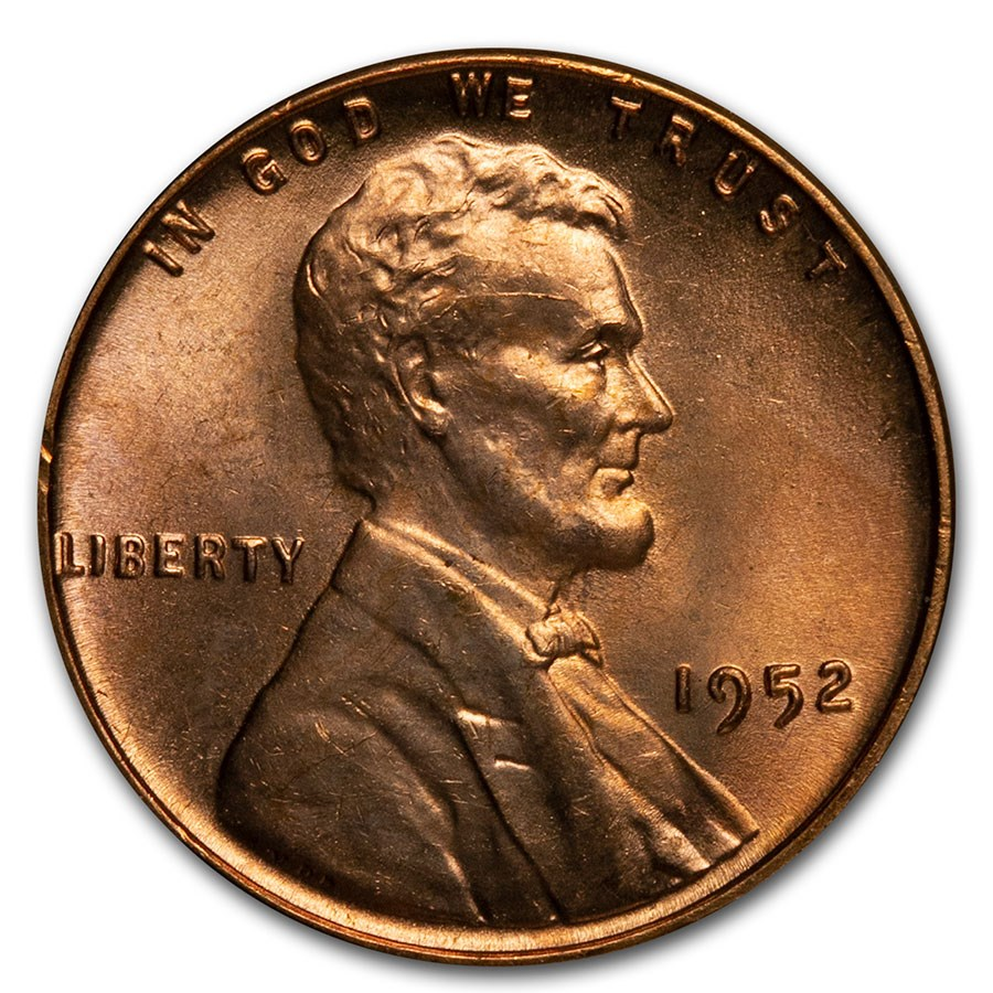 1952 Lincoln Cent BU (Red)