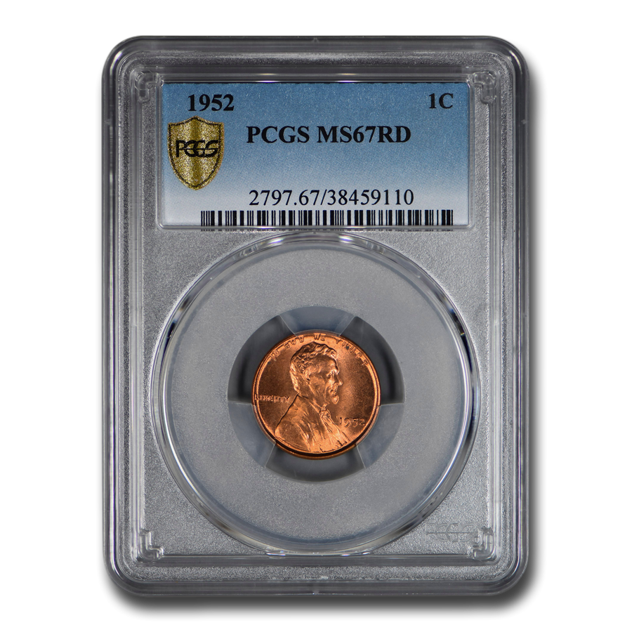 1952 Lincoln Cent MS-67 PCGS (Red)