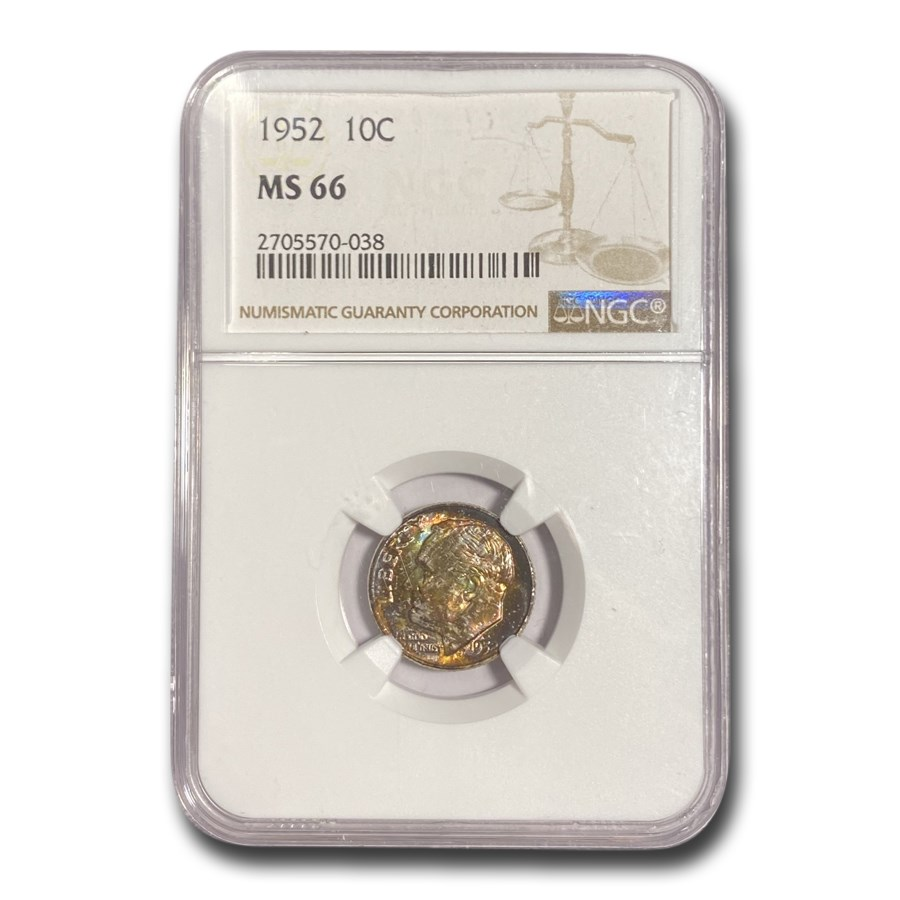 1952 Roosevelt Dime MS-66 NGC