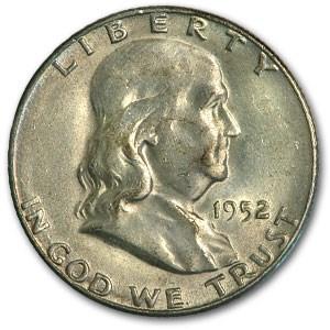 1952-S Franklin Half Dollar AU