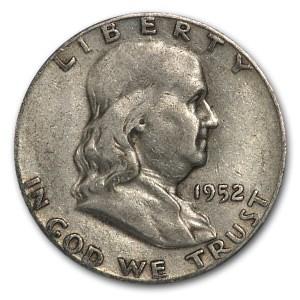 1952-S Franklin Half Dollar Fine/XF
