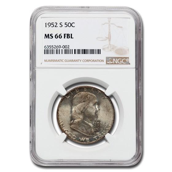 1952-S Franklin Half Dollar MS-66 NGC (FBL)