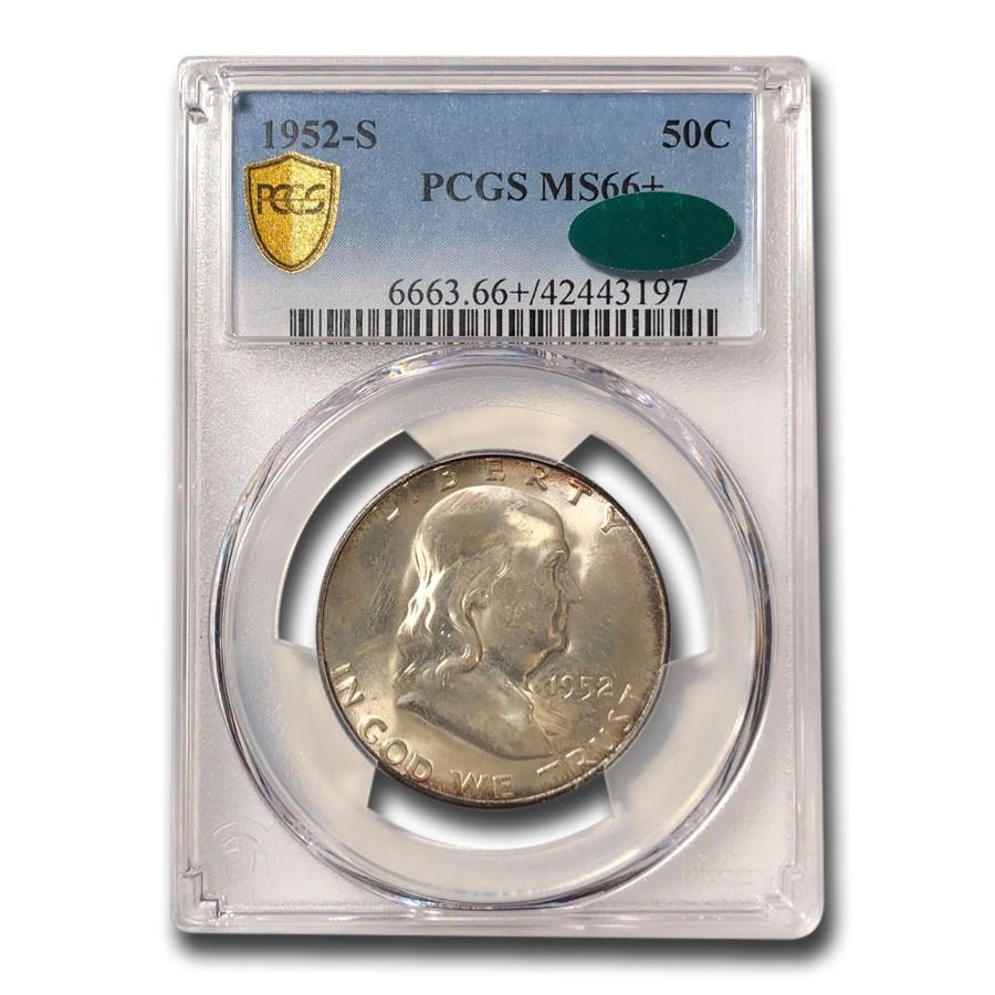 1952-S Franklin Half Dollar MS-66+ PCGS CAC