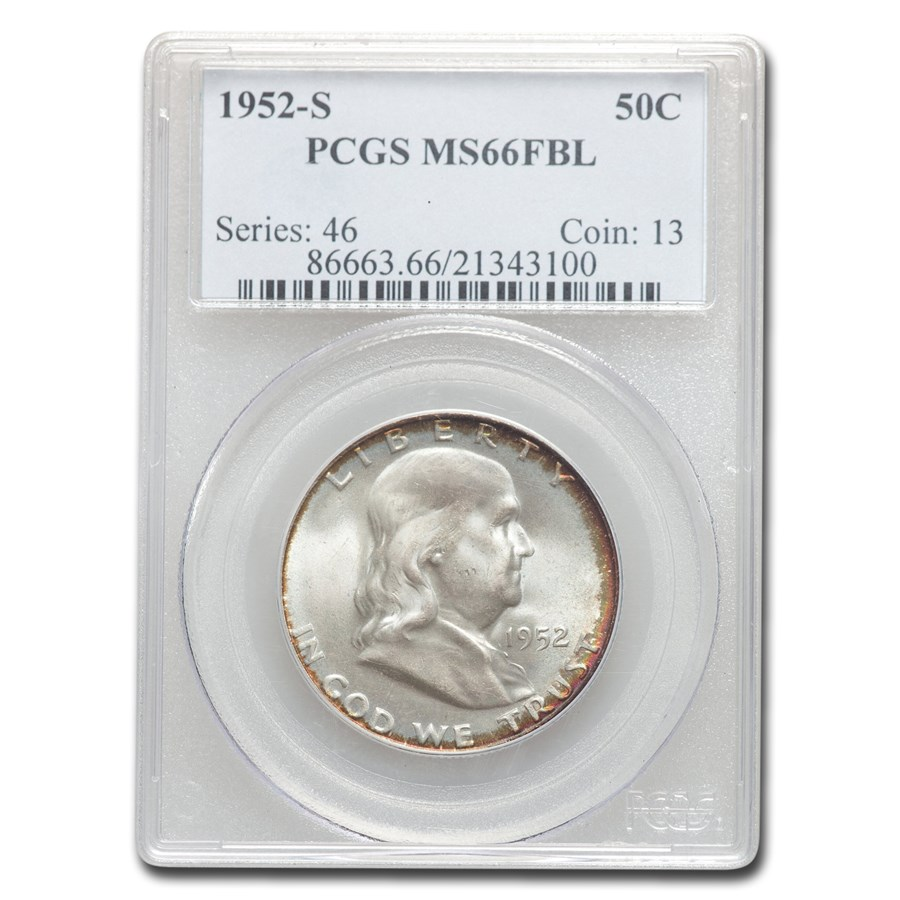 1952-S Franklin Half Dollar MS-66 PCGS (FBL)