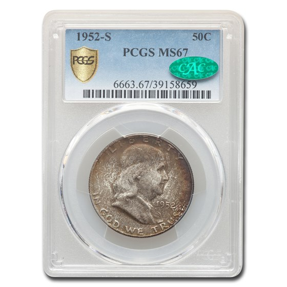 1952-S Franklin Half Dollar MS-67 PCGS CAC