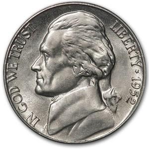 1952-S Jefferson Nickel BU