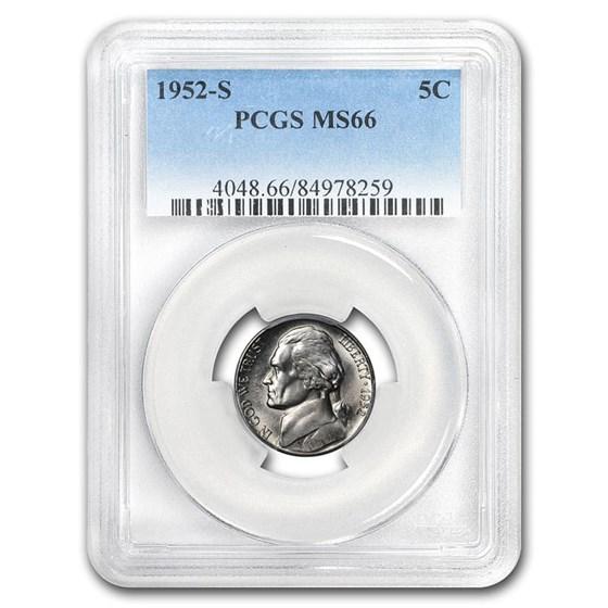 1952-S Jefferson Nickel MS-66 PCGS