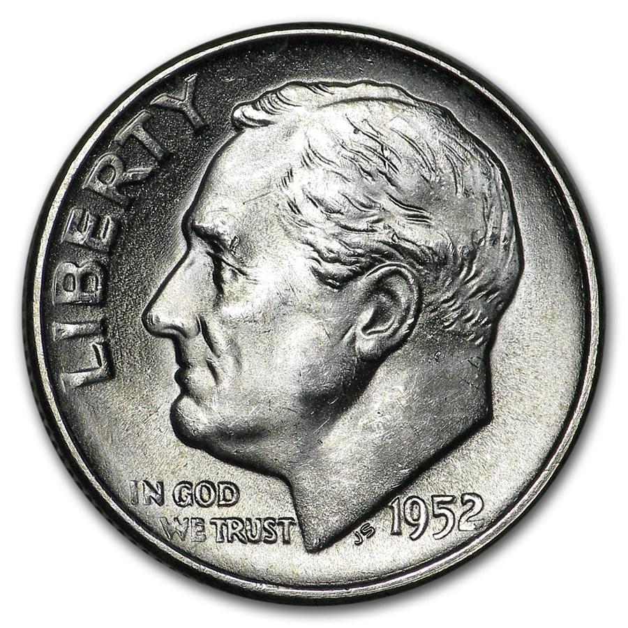 1952-S Roosevelt Dime BU