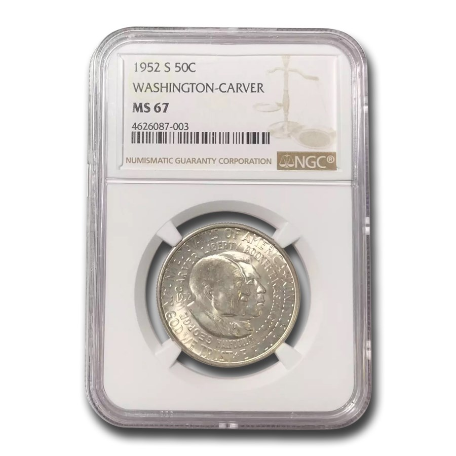 1952-S Washington Carver Half Dollar Commem MS-67 NGC