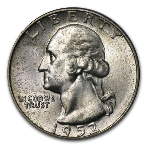 1952-S Washington Quarter BU