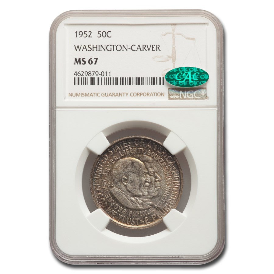1952 Washington-Carver Half Dollar MS-67 NGC CAC