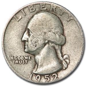 1952 Washington Quarter VG/XF