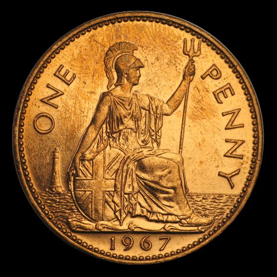 1953-1967 Great Britain Large Penny Elizabeth II Cull