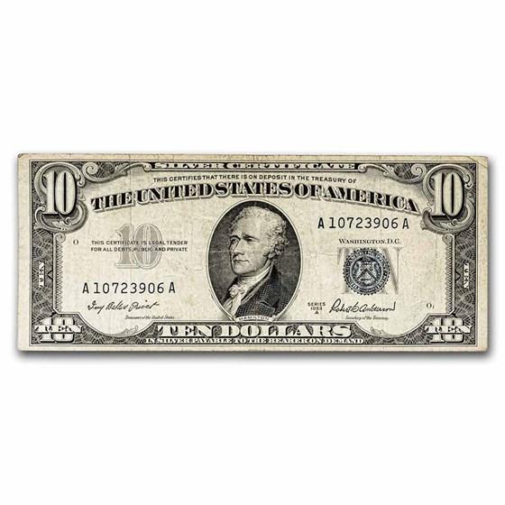 1953-A $10 Silver Certificate VF (Fr#1707)