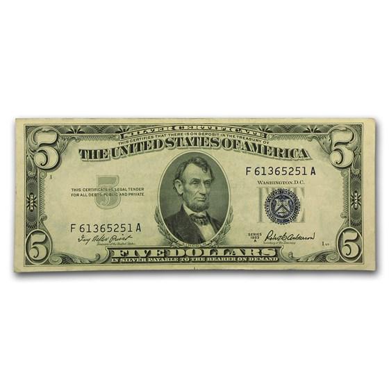 1953-A $5.00 Silver Certificate AU (Fr#1656)