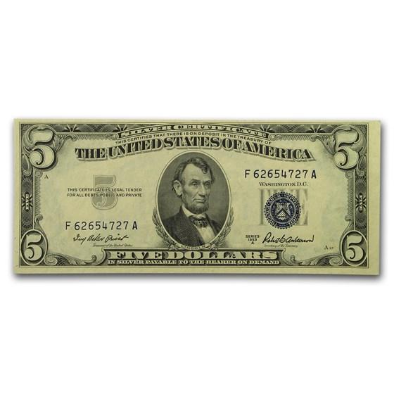 1953-A $5.00 Silver Certificate CU (Fr#1656)