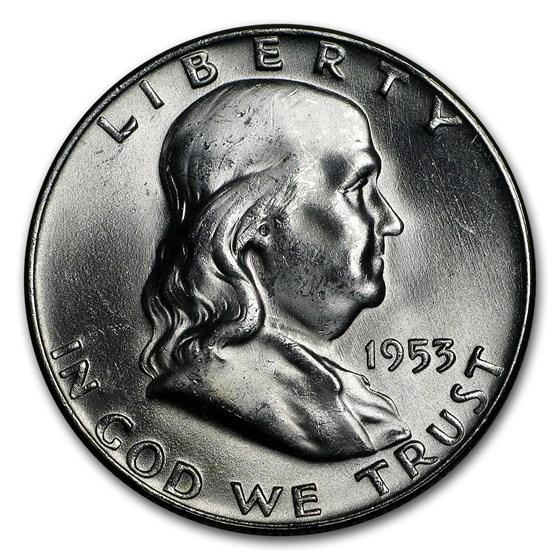 1953-D Franklin Half Dollar BU