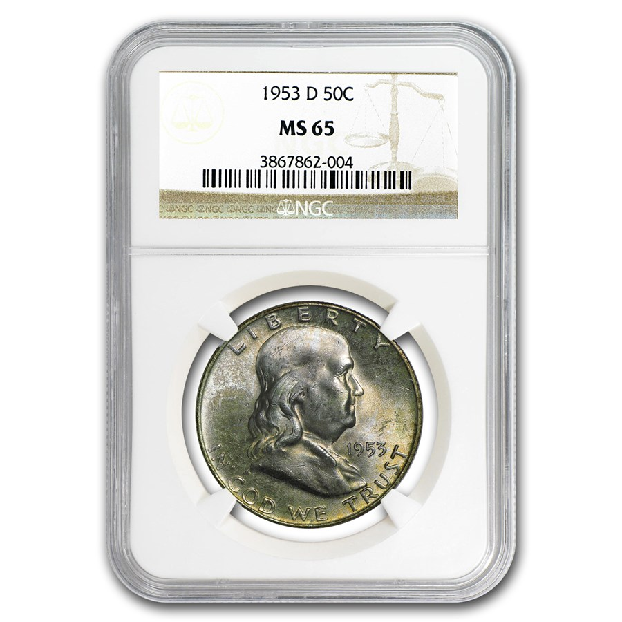 1953-D Franklin Half Dollar MS-65 NGC