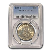 1953-D Franklin Half Dollar MS-66 PCGS (FBL)